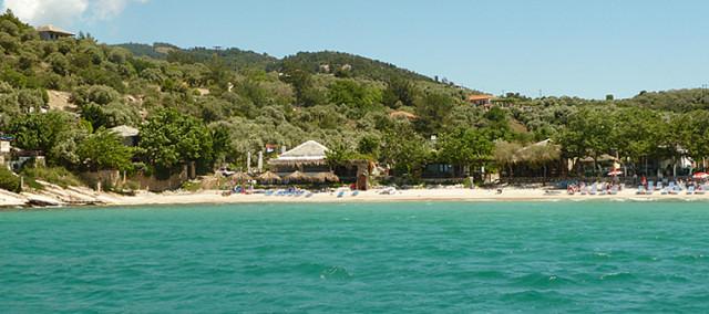 Плажът Алики, Тасос