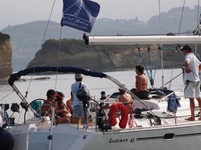 С яхта към Корфу
