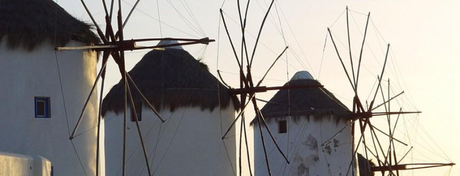 Мелниците на Миконос, Циклади - слайдер