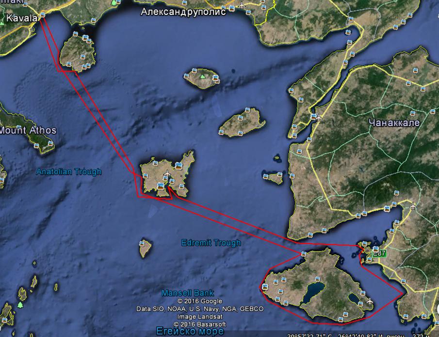Маршрут на Флотилия Турция 2016