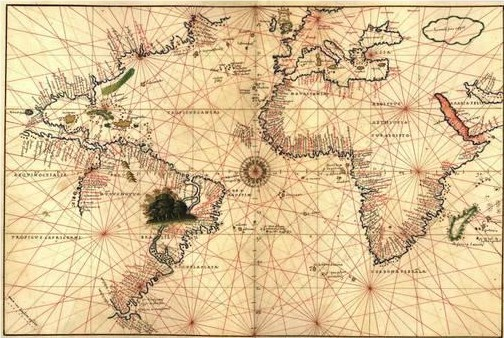 карта - атлантически океан