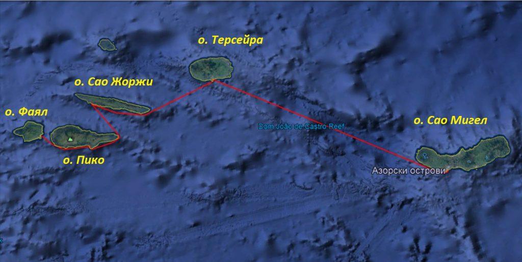 карта - Азори