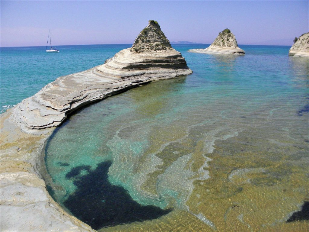 Северно Йонийско море - Корфу - бряг - яхта