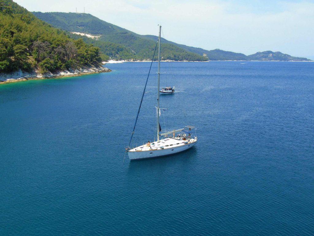 Тасос - яхта - море